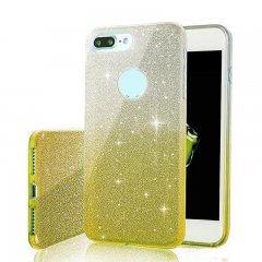 Funda iPhone 7 Gel Glitter Dorada