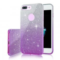 Funda iPhone 7 Plus Gel Glitter Rosa