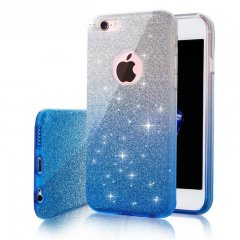 Funda iPhone 7 Plus Gel Glitter Azul
