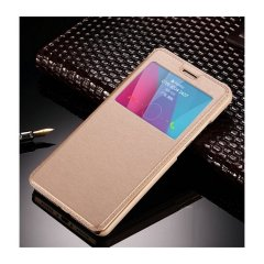 Funda Galaxy J5 2016 Flip View Cover Dorada