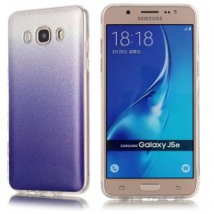 Funda Samsung Galaxy J5 2016 Gel Purpurina Azul