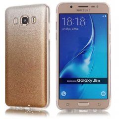 Funda Samsung Galaxy J5 2016 Gel Purpurina Dorada