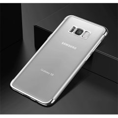 Funda Galaxy S8 Plus Gel con Bordes Cromado Gris