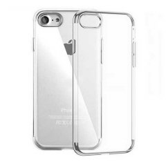 Funda iPhone 7 Gel con Bordes Cromado Plata