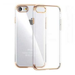 Funda iPhone 6 Plus Gel con Bordes Cromado Dorado