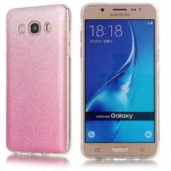 Funda Samsung Galaxy J7 2016 Gel Purpurina Rosa