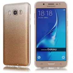 Funda Samsung Galaxy J7 2016 Gel Purpurina Dorada