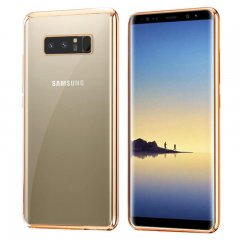Funda Galaxy Note 8 Gel Flexible con marco cromado Dorado