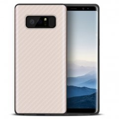 Funda Galaxy Note 8 Fibra Carbono Dorada