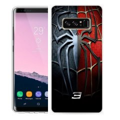 Funda Samsung Galaxy Note 8 Gel Dibujo Spider Dual