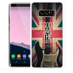 Funda Samsung Galaxy Note 8 Gel Dibujo Guitarra