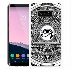 Funda Samsung Galaxy Note 8 Gel Dibujo Ojo