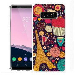 Funda Samsung Galaxy Note 8 Gel Dibujo Paris Art