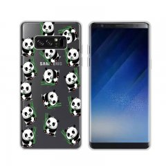 Funda Samsung Galaxy Note 8 Gel Dibujo Pandas