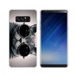 Funda Samsung Galaxy Note 8 Gel Dibujo Gato