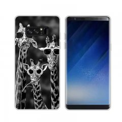 Funda Samsung Galaxy Note 8 Gel Dibujo Girafas