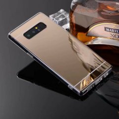 Funda Galaxy Note 8 Gel Cromada Dorada