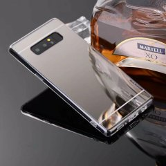 Funda Galaxy Note 8 Gel Cromada Gris