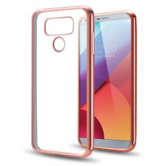 Funda LG G6 Gel Flexible con marco cromado Rosa