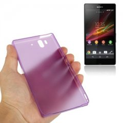 Funda Xperia Z Gel Extra Fina 0,3mm Anti Huella Morada