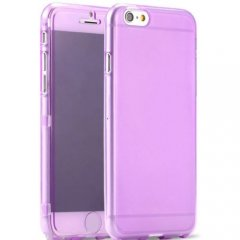 Funda iPhone 6 Plus Gel Flip Morada